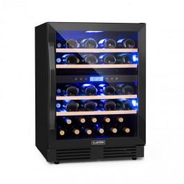Klarstein Vinovilla Onyx 43, dvouzónová vinotéka, 129l, 43 lahví, tříbarevné osvětlení, skleněné dveře
