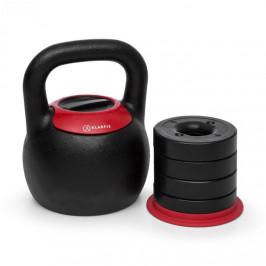 KLARFIT Adjustabell, nastavitelný kettlebell, 8/10/12/14/16 kg, černo/červený