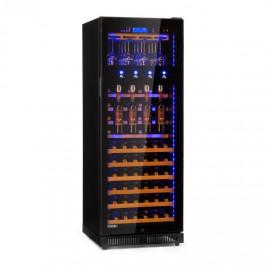 Klarstein First Class 84, chladnička na víno, 4 dispenser, 84 lahví, 5–22 °C, černá