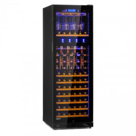 Klarstein First Class 129, vinotéka s dávkovačem, 129 lahví, 5–22 °C, černá