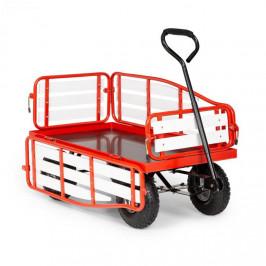 Waldbeck Ventura, ruční vozík, maximální zátěž 300 kg, ocel, WPC, červený