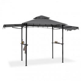 Blumfeldt Steakhouse Wings, altán, 244 x 260 x 152 cm, 160 g/m², polyester, ocel, šedý