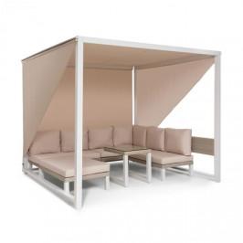 Blumfeldt Havana, pavilon & Lounge-Set, 270x230x270cm, 4 dvojsedadlá, bílý