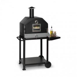 Klarstein Pizzaiolo Pro, plynový gril na pizzu, 76 x 143 x 66 cm, šamotový kámen, ocel, přenosný