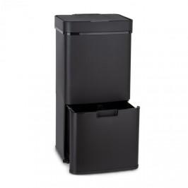 Klarstein Royal Trash Matte Black, odpadkový koš se senzorem, 72 l, ušlechtilá ocel, matná černá