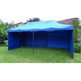 Tradgard 41510 Zahradní párty stan DELUXE nůžkový + boční stěna - 3 x 6 m modrá