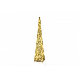 Nexos 4258 Vánoční dekorace - Akrylový kužel - 90 cm, teple bílé + trafo