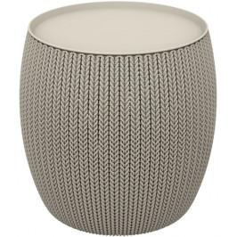 CURVER URBAN 41487 Moderní plastový stolek 41 x 41 x 41 cm - pískový