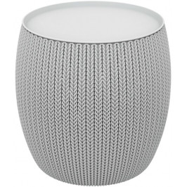 Moderní plastový stolek URBAN 41 x 41 x 41 cm - šedý CURVER