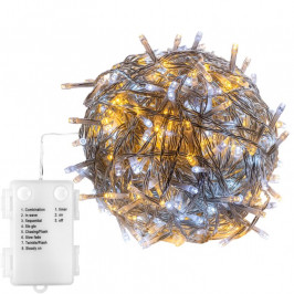 VOLTRONIC® 67675 Vánoční LED osvětlení-5 m,50 LED,teple/studeně bílé,baterie