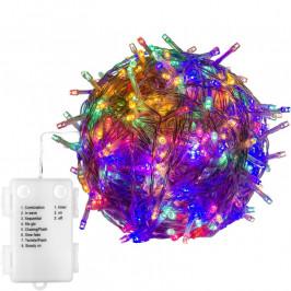 VOLTRONIC® 67674 Vánoční LED osvětlení - 5 m, 50 LED, barevné, na baterie