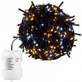 VOLTRONIC® 67679 Vánoční LED osvětlení-5 m,50 LED,teple/studeně bílé,baterie