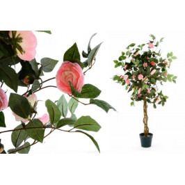 Garthen 149 Umělá květina - růžová kamélie - 140 cm