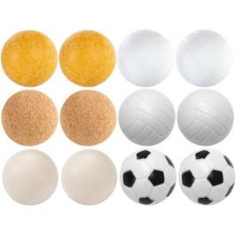 Tuin 9546 Exkluzivní sada 12 míčků ke stolnímu fotbálku - různé materiály, 35 mm