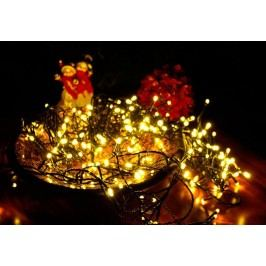 Vánoční osvětlení na stromeček - 100 LED, teple bílé 10 m