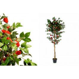 Garthen 150 Umělá květina - kamélie červená - 200 cm