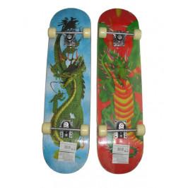 CorbySport 5729 Skateboard rekreační s protismykem - motiv ČERVENÝ DRAK