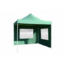 Garthen PROFI 377 Zahradní párty stan nůžkový 3x3 m zelený + 2 boční stěny
