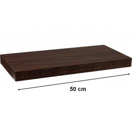 STILISTA VOLATO 31049 Nástěnná police - tmavé dřevo 50 cm