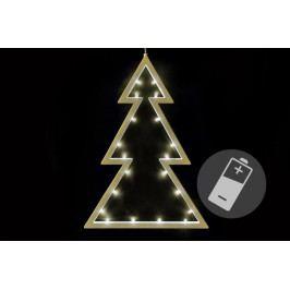 Nexos 33492 Vánoční dekorace - stromek - teple bílá, 20 LED, 29,5 cm