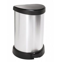 CURVER DECOBIN 30507 Odpadkový koš pedálový 20l stříbrná
