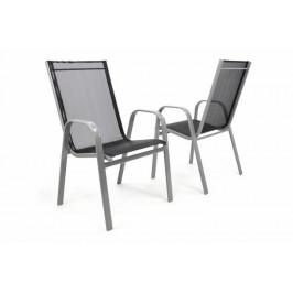Garthen 32293 Set 2 ks zahradní stohovatelná židle - antracit