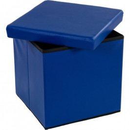 STILISTA 2497 Taburet s úložným prostorem modrý