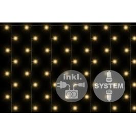 Nexos 2183 Světelný závěs diLED - 200 LED teple bílá + napájení
