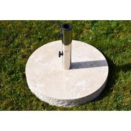 Garthen 2149 Stojan na slunečník z mramoru a ušlechtilé oceli, kulatý, 40 kg
