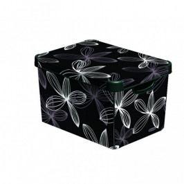 CURVER 33025 Plastový úložný box DECO - L - black flower