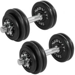 MOVIT 6354 Profesionální sada činek o celkové hmotnosti 30 kg