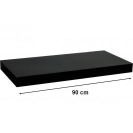 STILISTA VOLATO 31067 Nástěnná police  - lesklá černá 90 cm