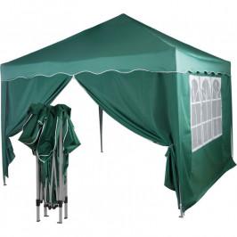 Tuin 36862 Zahradní párty stan nůžkový 3x3 m + 2 boční stěny - zelený