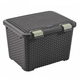CURVER 32306 Plastový úložný STYLE BOX - 43L - hnědý