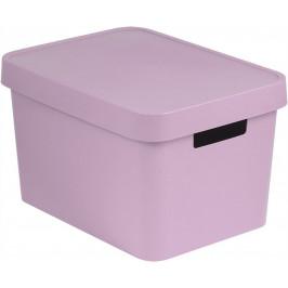 CURVER 41166 Úložný  box  plastový s víkem 17L - růžový