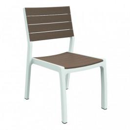 Allibert HARMONY 35569 Designová zahradní židle - bílé + cappuchino