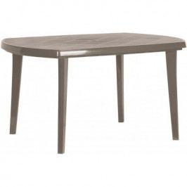 Allibert ELISE 35577 Plastový oválný stůl - cappuccino