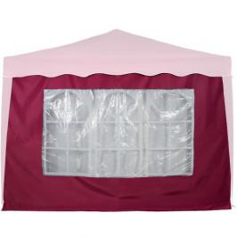 INSTENT 6369 Boční stěna s trojdílným oknem - 3x3m - vínová