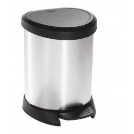 CURVER 30504 Odpadkový koš pedálový DECOBIN 5l stříbrný