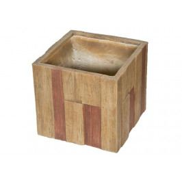 Květináč G21 Wood Cube 44cm