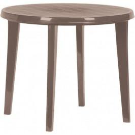 CURVER 35574 Plastový kulatý stlů LISA - cappuccino