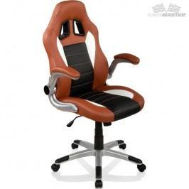 Otočná kancelářská židle GT Series One  - hnědá/černá/bílá