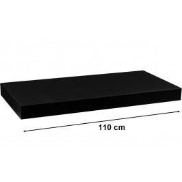 STILISTA VOLATO 31073 Nástěnná police  - matná černá 110 cm