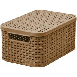CURVER 41116 Košík box s víkem - S - mocha