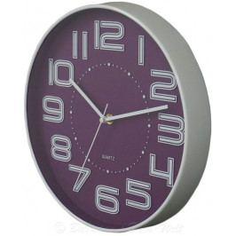 Koopman International 35238 Nástěnné hodiny s reiléfem čísla COLOR 30,5 cm - FIALOVÉ