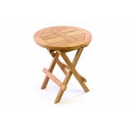 Divero 35143 Dětský odkládací sklopný stolek z teakového dřeva