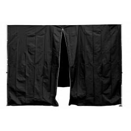 Garthen PROFI 30683 Sada 2 bočních stěn pro zahradní stan 3 x3 m černá