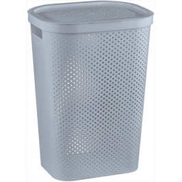 CURVER 41085 Koš na špinavé prádlo s víkem 59L šedý