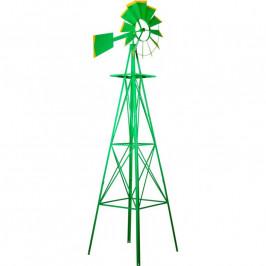Tuin Větrný mlýn v US stylu - zelená 245 cm