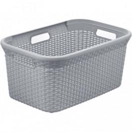 CURVER 41081 Koš na čisté prádlo RATTAN STYLE 45L  - šedý